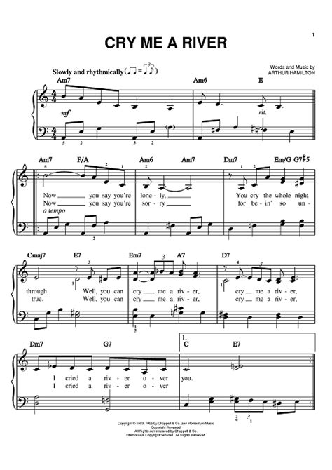 cry me a river cry me a river sheet music music for piano and more