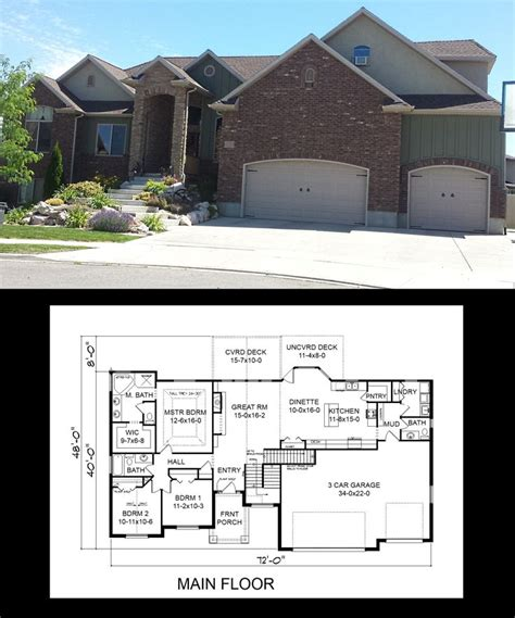 one story house plans with bonus room above garage inspiring single story house plans with bonus room above garage pictures best