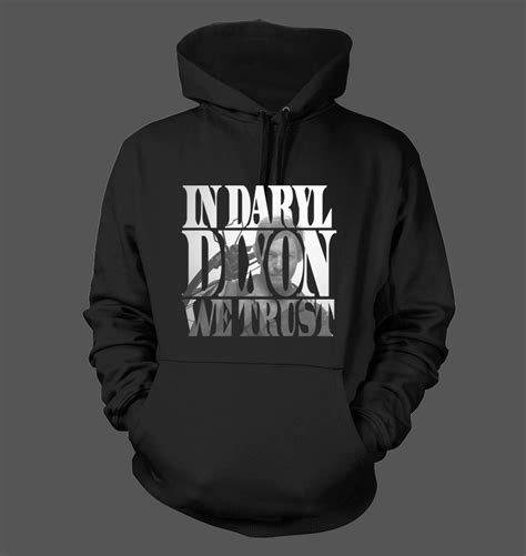 Hoodie The Walking Dead 2 in daryl dixon we trust s hoodie sweatshirt the walking dead twd 205 ebay