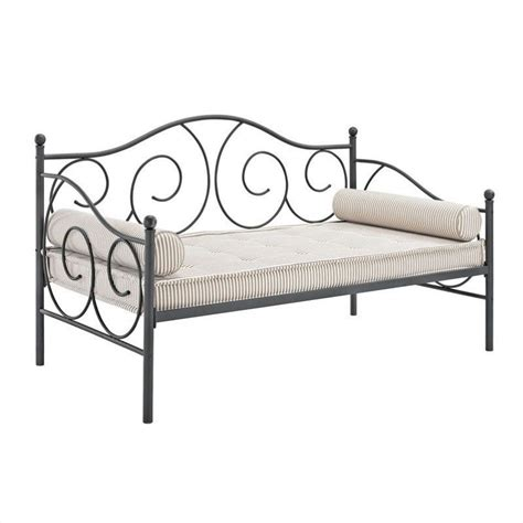full size day bed ameriwood victoria full size metal pewter daybed ebay