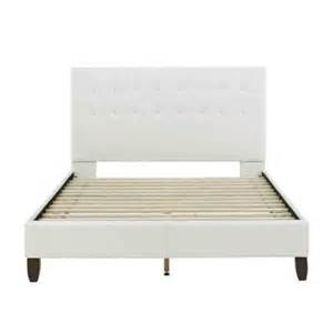 Platform Beds Home Depot Size Padded Platform Bed In White