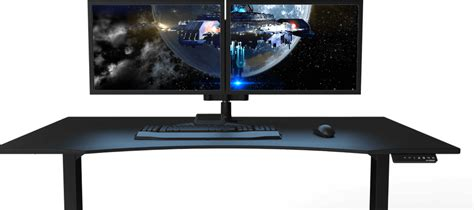 gaming computer desk for monitors gaming desk monitor arms gaming desk