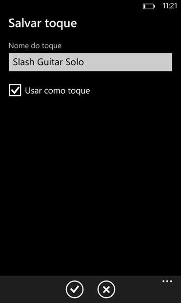como adicionar músicas como toques de chamadas no Windows