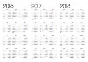 Calendario 2017 Y 2018 Calendario 2016 2017 Y 2018 Vector De Stock 169 Changered