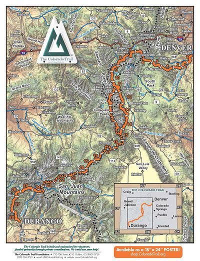 the colorado trail map planning a trip on collegiate west alternative