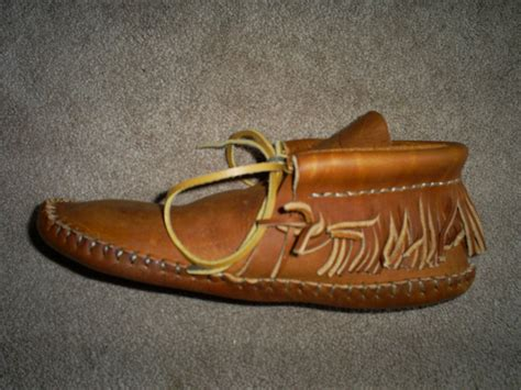 Handmade Leather Moccasins - made leather moccasins