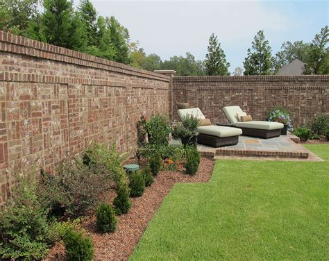 Gallery Of Homes Backyard Wall