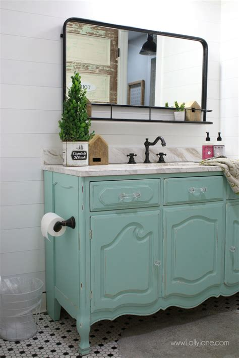 old dresser as bathroom vanity vintage dresser to bathroom vanity lolly jane