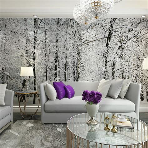 large wall murals popular birch tree wallpaper mural buy cheap birch tree