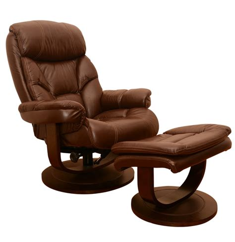 Leather Recliner Lounge Chair With Ottoman Ebth