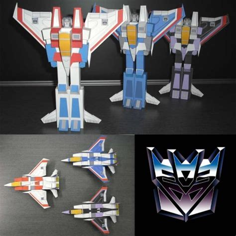 Build Your Dream Home transformable papercraft decepticon jets