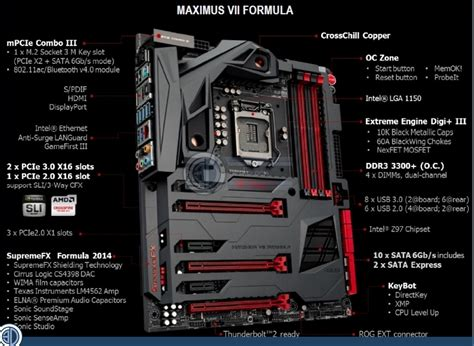 Asus Maximus Vii Formula oc3d review asus rog maximus vii formula review