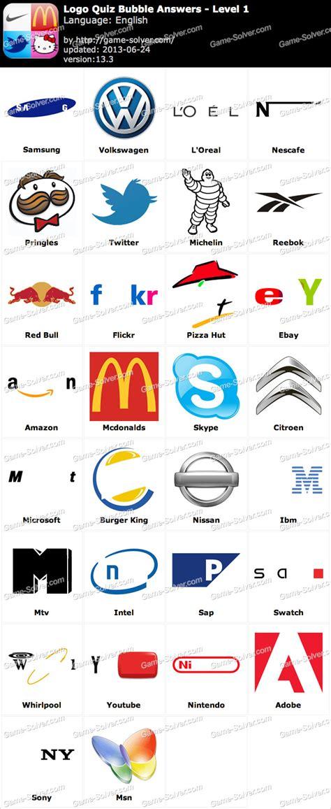 logo quiz cheats logo quiz by answers level 1 word list