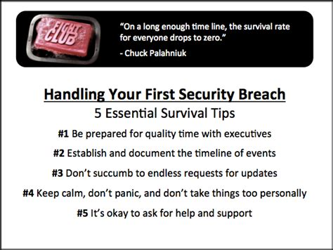 how to handle your first security breach survival tips