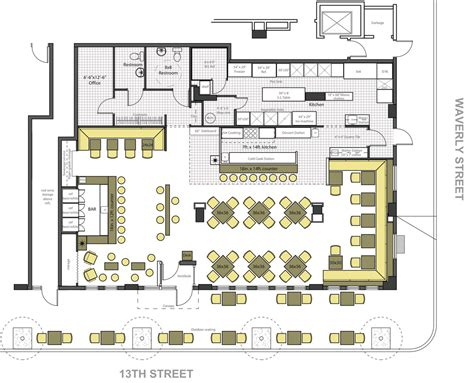 Resto Bar Floor Plan | fire restaurant bar ralph tullie archinect