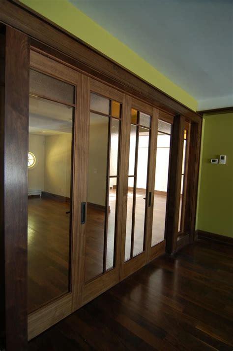Custom Made Bi Fold Closet Doors Handmade Walnut Bi Fold Doors By Westchester Wood Custommade