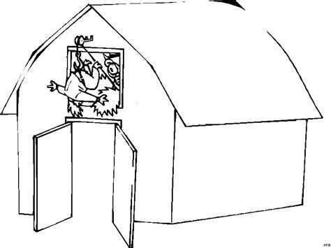 Scheune Comic mann fliegt aus einer scheune ausmalbild malvorlage comics