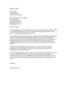 Cover Letter Nursing Sle by New Grad Cover Letter Exle Nursing Cover