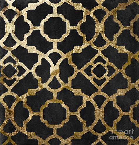 gold moroccan pattern moroccan gold iii painting by mindy sommers