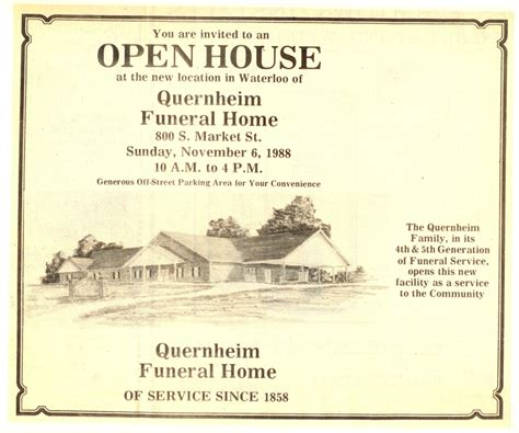 quernheim funeral home waterloo il funeral home and