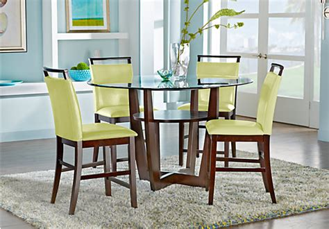 5 pc dining room set cardi s furniture ciara espresso brown 5 pc counter height dining set