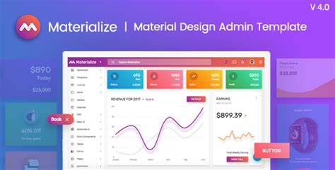 themeforest elite admin materialize material design admin template by pixinvent