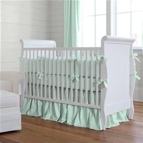 Mint Crib Skirt by Solid Mint Crib Skirt Gathered Carousel Designs