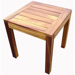 Wood Table Iroko Light Wood End Table From Ultimate Contract Uk