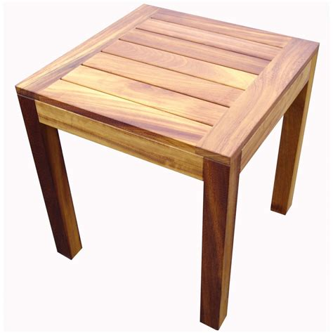 Wooden End Tables Iroko Light Wood End Table From Ultimate Contract Uk