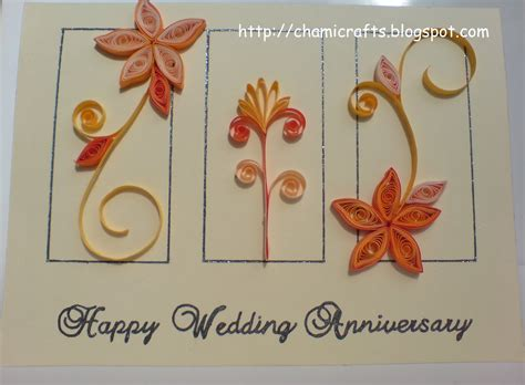 Handmade Anniversary Cards For Parents - chami crafts handmade greeting cards wedding