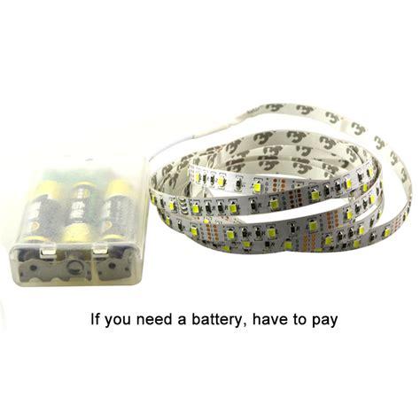 Led Lights Strips Battery Powered 1m 2m 3m 5m 3 X Aa Battery Powered Led Light 60leds M Dc 5v 3528 Smd Led Ribbon