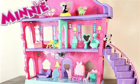 minnie doll house disney minnie mouse house dollhouse magical bow sweet home youtube
