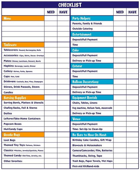 printable event planning checklist printable party checklist event planning checklist