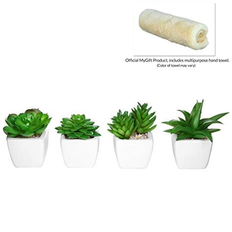decorative plants for home set of 4 modern white ceramic mini potted artificial