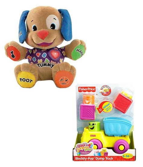 puppy play fisher price fisher price to play puppy with blockity pop dump truck buy fisher price