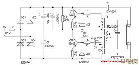 circuit diagram of electronic choke 20 40w electronic ballast principle and maintenance