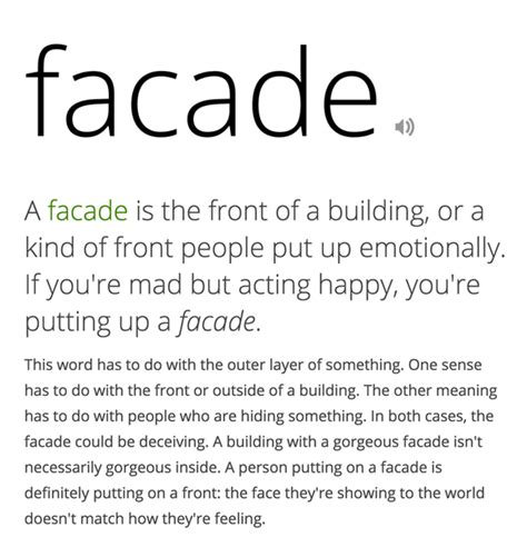 askfm meaning what is the meaning of facade how to put it in a