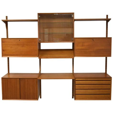 Adjustable Shelving Units Mid Century Modern Adjustable Wall Shelving Unit At 1stdibs