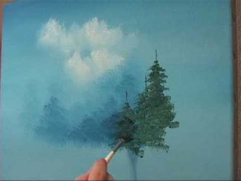 bob ross painting evergreen trees learn how to create a evergreen tree the easy way