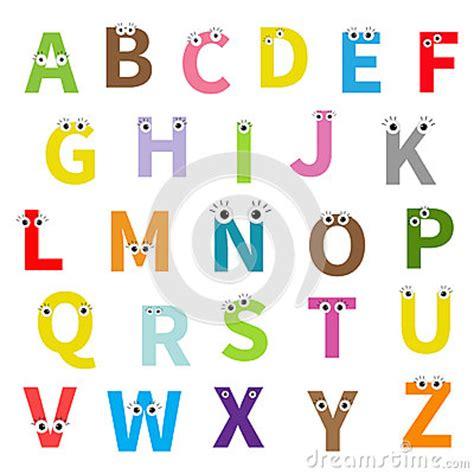 Buchstaben Sticker Libro by Alphabet Abc Anglais Lettres Avec Le Visage Yeux Cartes D