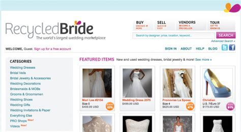 Blog post listing out the best online recycle your wedding