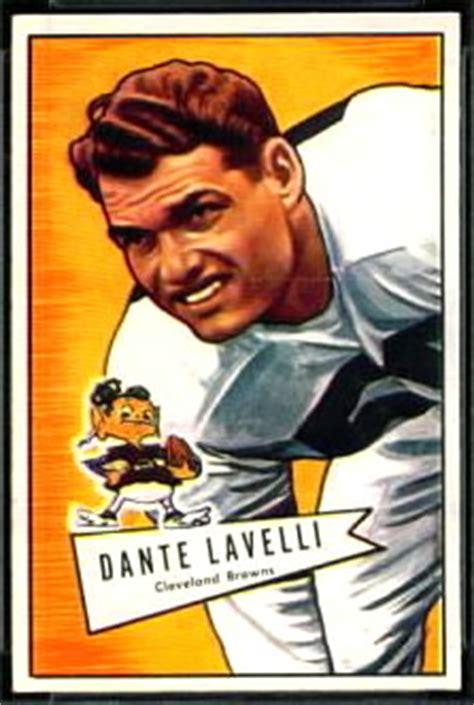 dante lavelli dante lavelli 1952 bowman small 128 vintage football