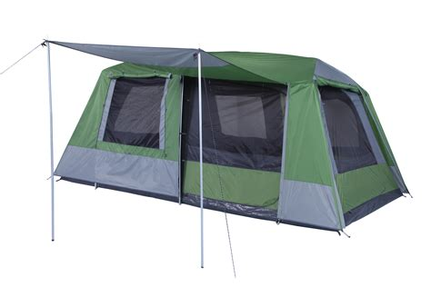 oztrail awning tent oztrail sportiva 8 dome tent 2 room 8p person spacious