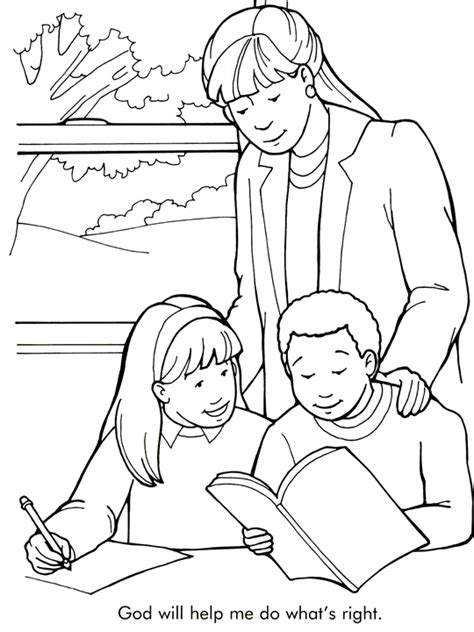 doing what s right coloring page