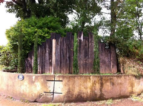 Vertical Railway Sleepers by Tideford Orchard Vertical Entrance Wall With Used Railway
