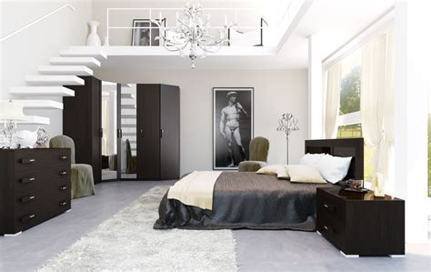 Black And White Bedroom Interior Design 4 Black And White Brown Bedroom Mezzanine Interior Design Ideas