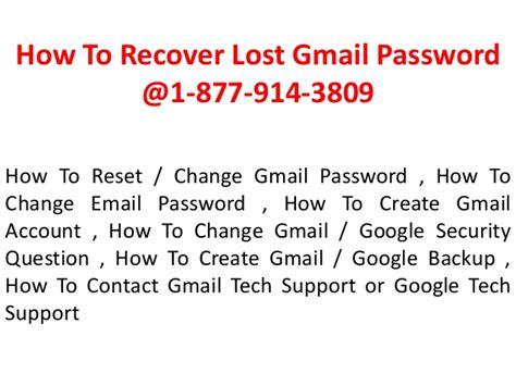how to hack reset recovery gmail password without software 1 877 914 3809 gt gt how to recover lost gmail password