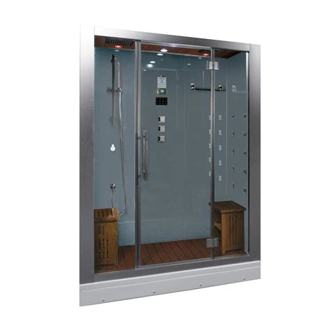 home depot steam shower ariel 59 in x 32 in x 87 4 in steam shower enclosure