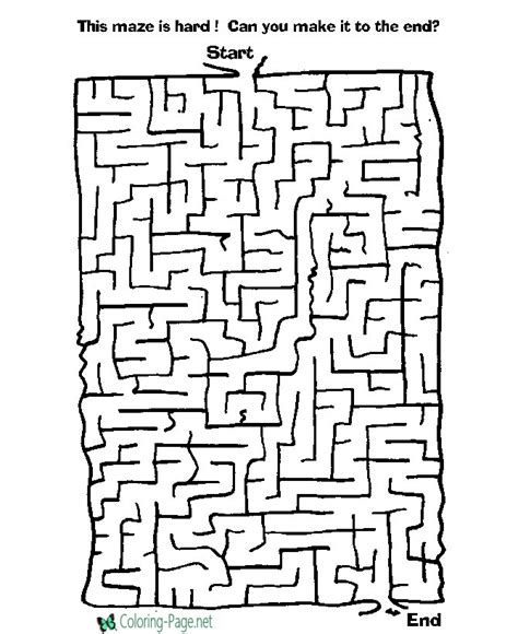 printable children s games and puzzles difficult kids printable mazes