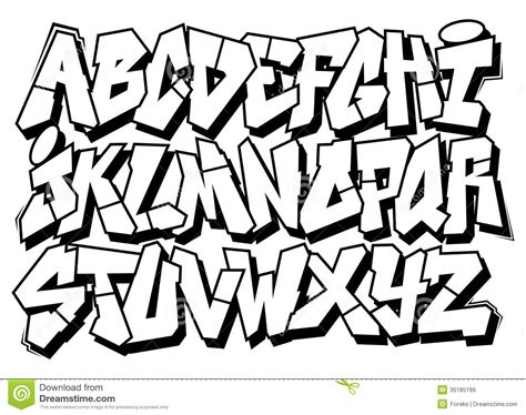 street fonts graffiti alphabets free coloring pages